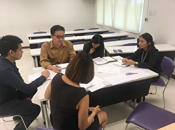 Lecturers of Digital Entrepreneurship Management and International Business occurred the meeting to plan and develop course structure and course activities of The Bachelor of Business Administration International Program, SSRUIC
